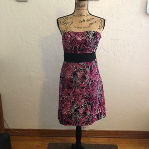 Ann Taylor Loft strapless dress, size 4P